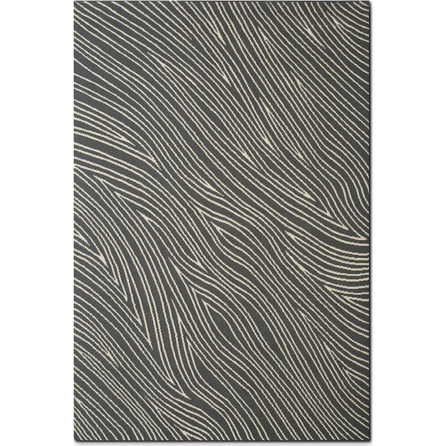 Rugs - Broadway 5' x 8' Area Rug - Gray and Ivory