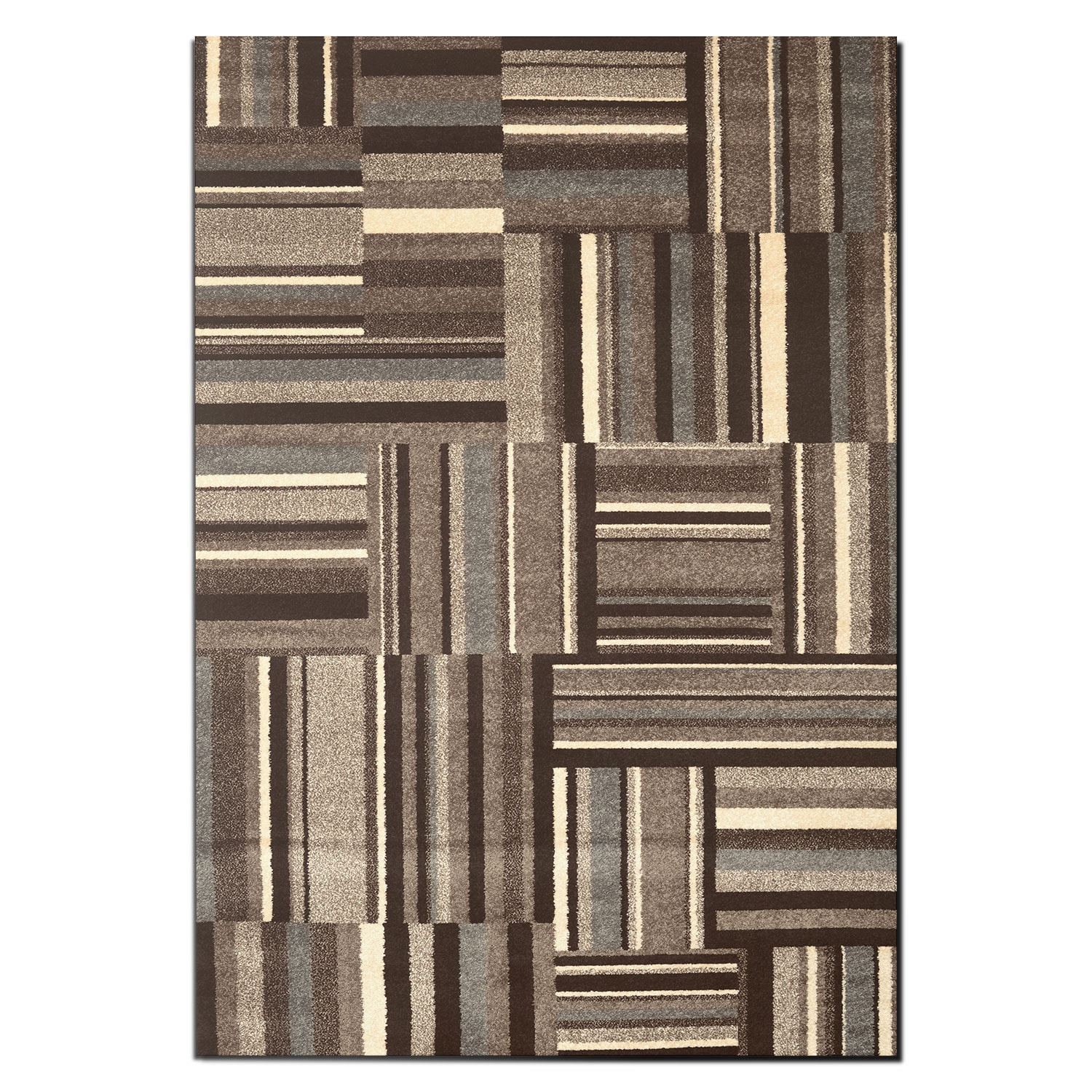 Ava 5' x 8' Area Rug - Gray and Cream
