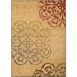 Ava 5' x 8' Area Rug - Beige and Green