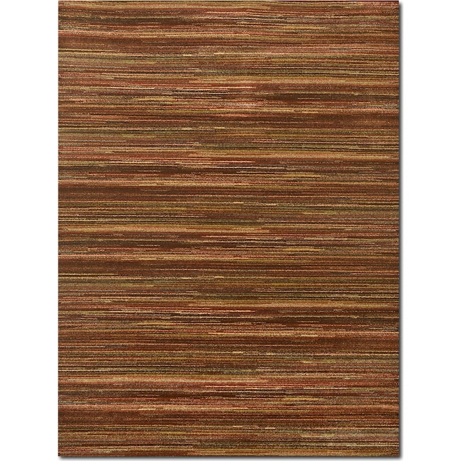 Rugs - Ava 8' x 10' Area Rug - Red and Green