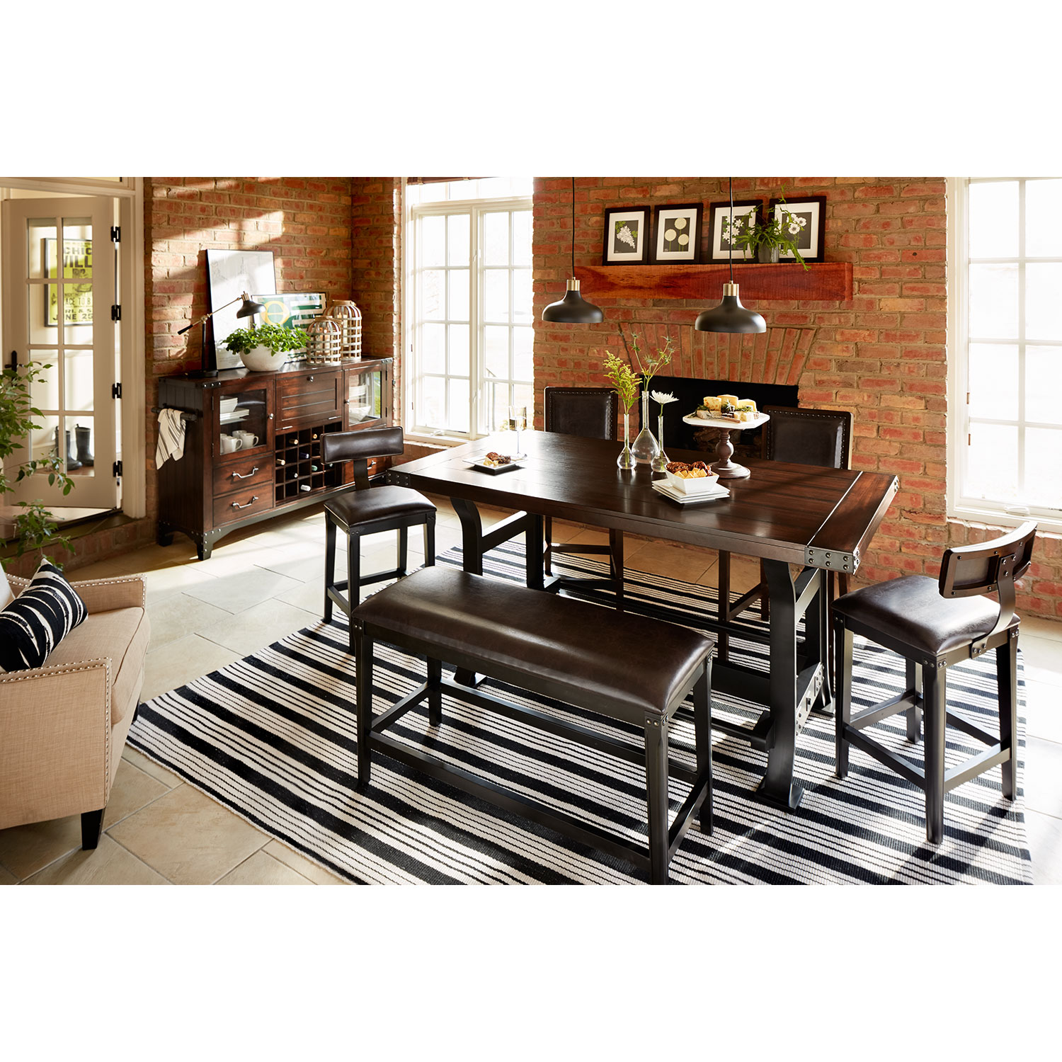 Newcastle Counter-Height Dining Table - Mahogany | Value City ...