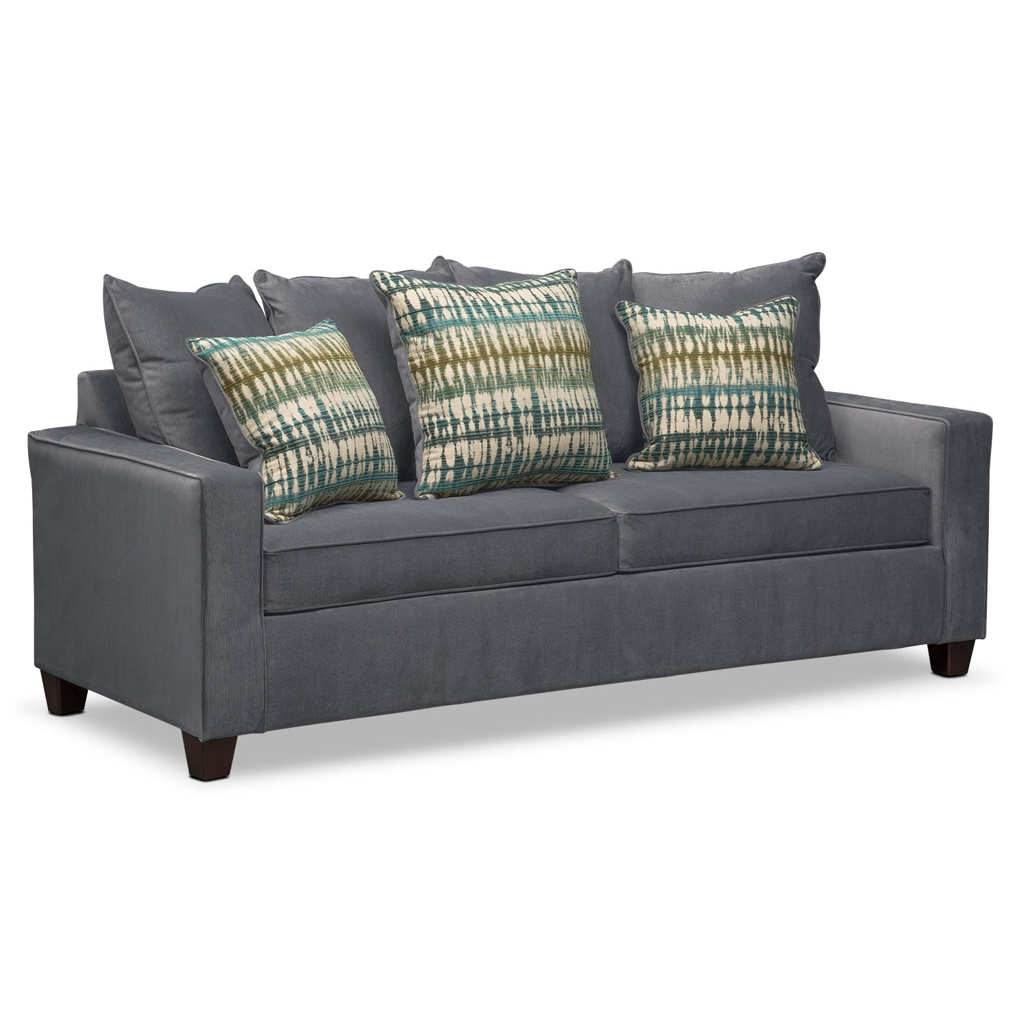 Living Room Furniture - Bryden Queen Memory Foam Sleeper Sofa - Slate