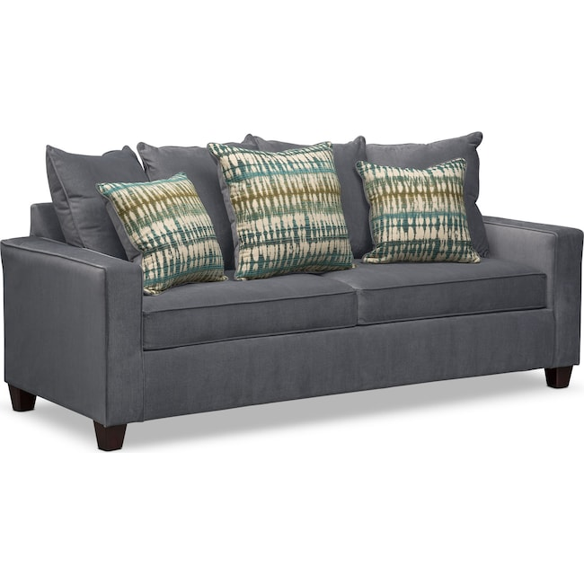 Living Room Furniture - Bryden Sofa - Slate
