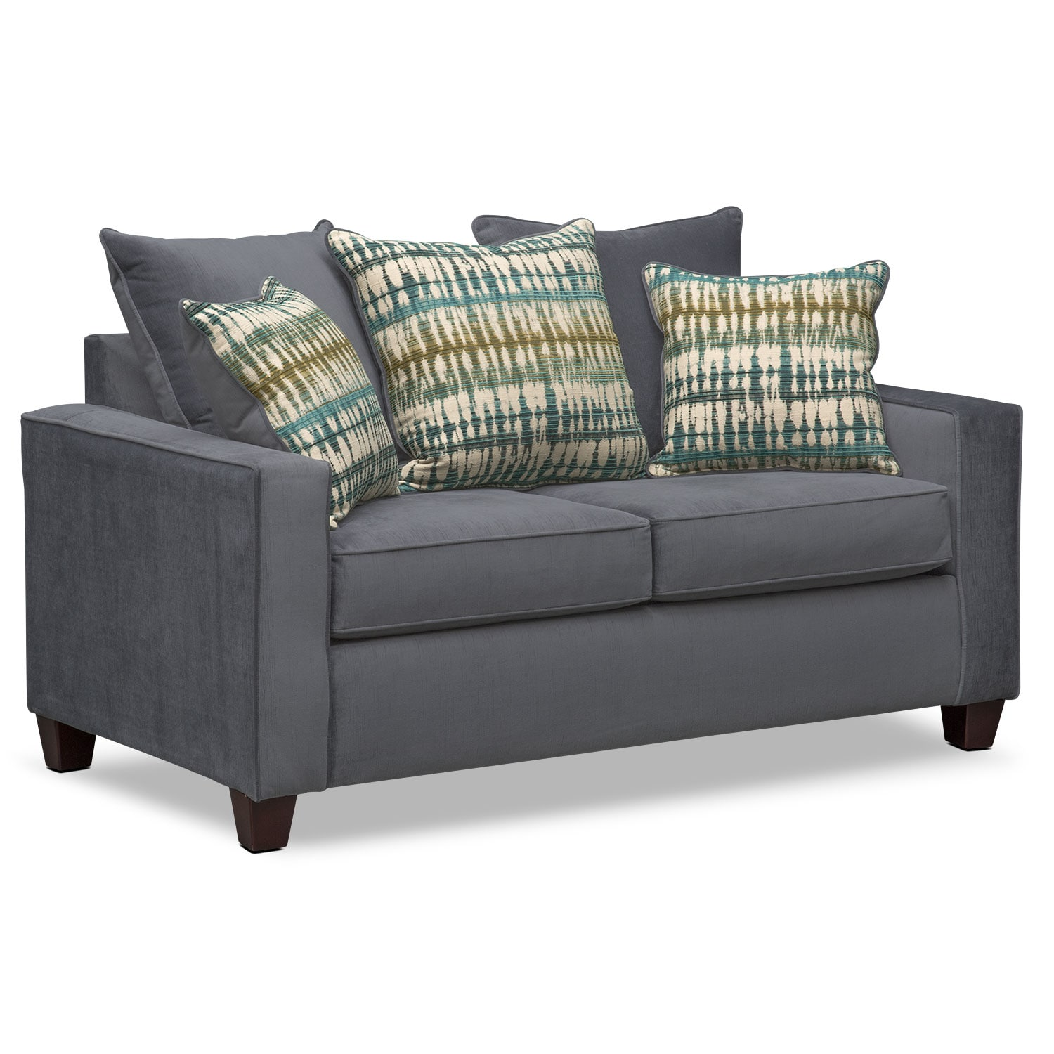 Bryden Sofa Loveseat and Chair Set Slate