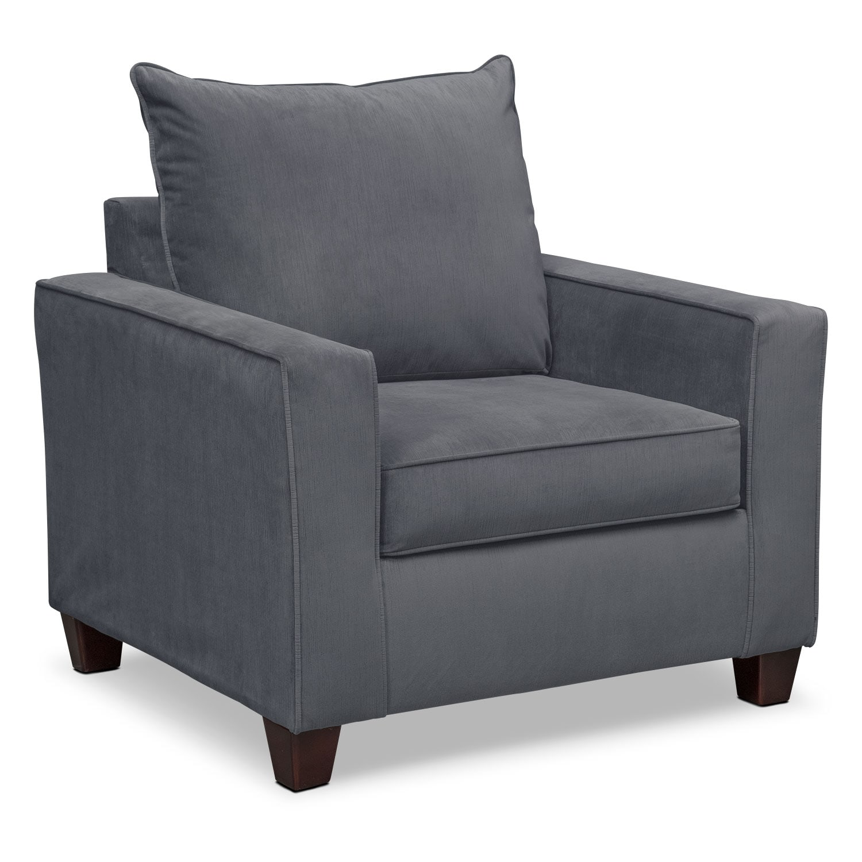 Living Room Furniture - Bryden Chair - Slate