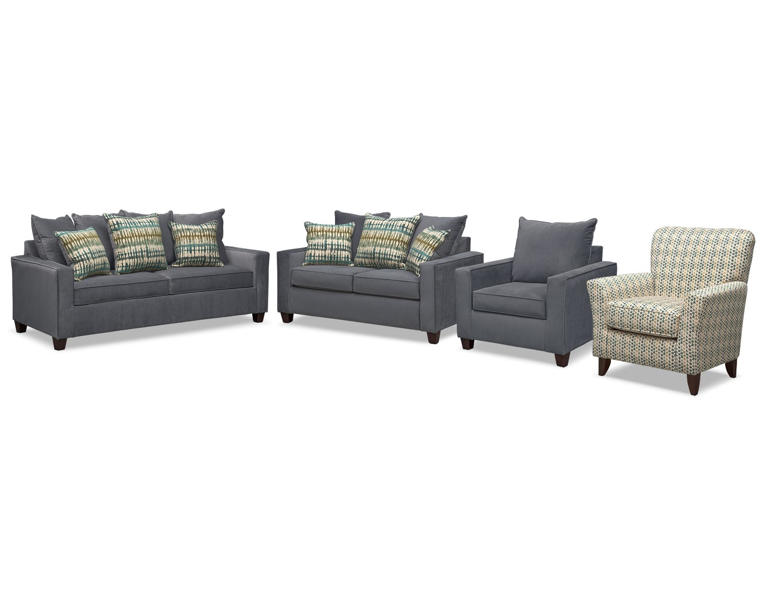 the bryden collection - slate | value city furniture