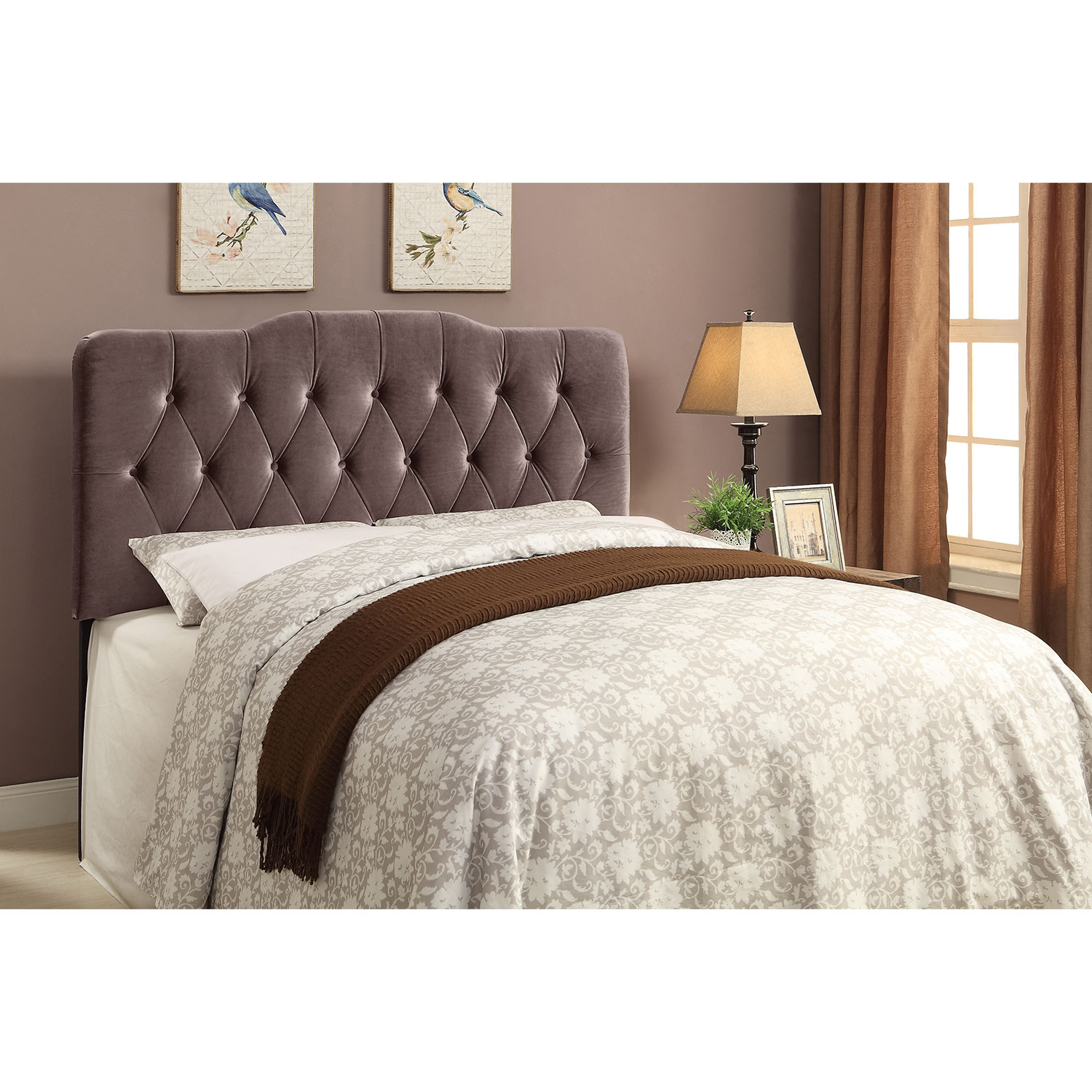 Bedroom Furniture - Quinn King Headboard - Gray