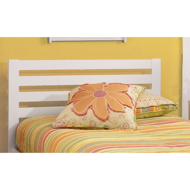 Kids Furniture - Aiden Twin Bed - White