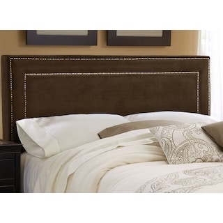 Amber Queen Upholstered Headboard - Chocolate
