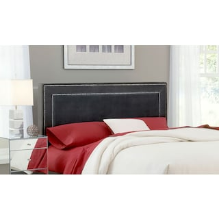 Amber Queen Upholstered Headboard - Pewter