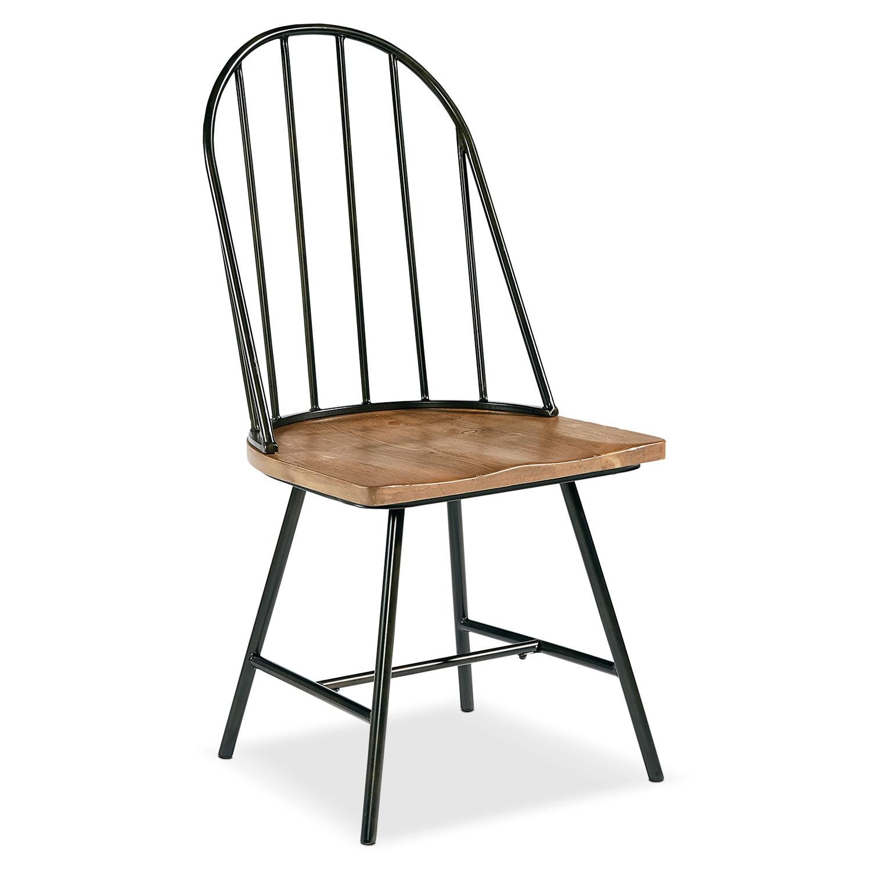 Dining Room Furniture - Primitive Windsor Metal Hoop Side Chair