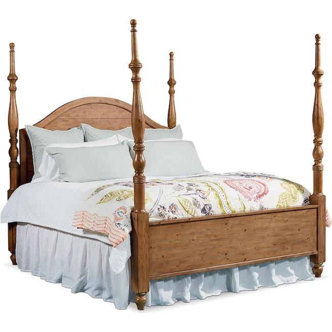 Bedroom Furniture - King Primitive Camelback Post Bed
