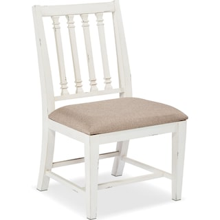 Traditional Revival Side Chair - White