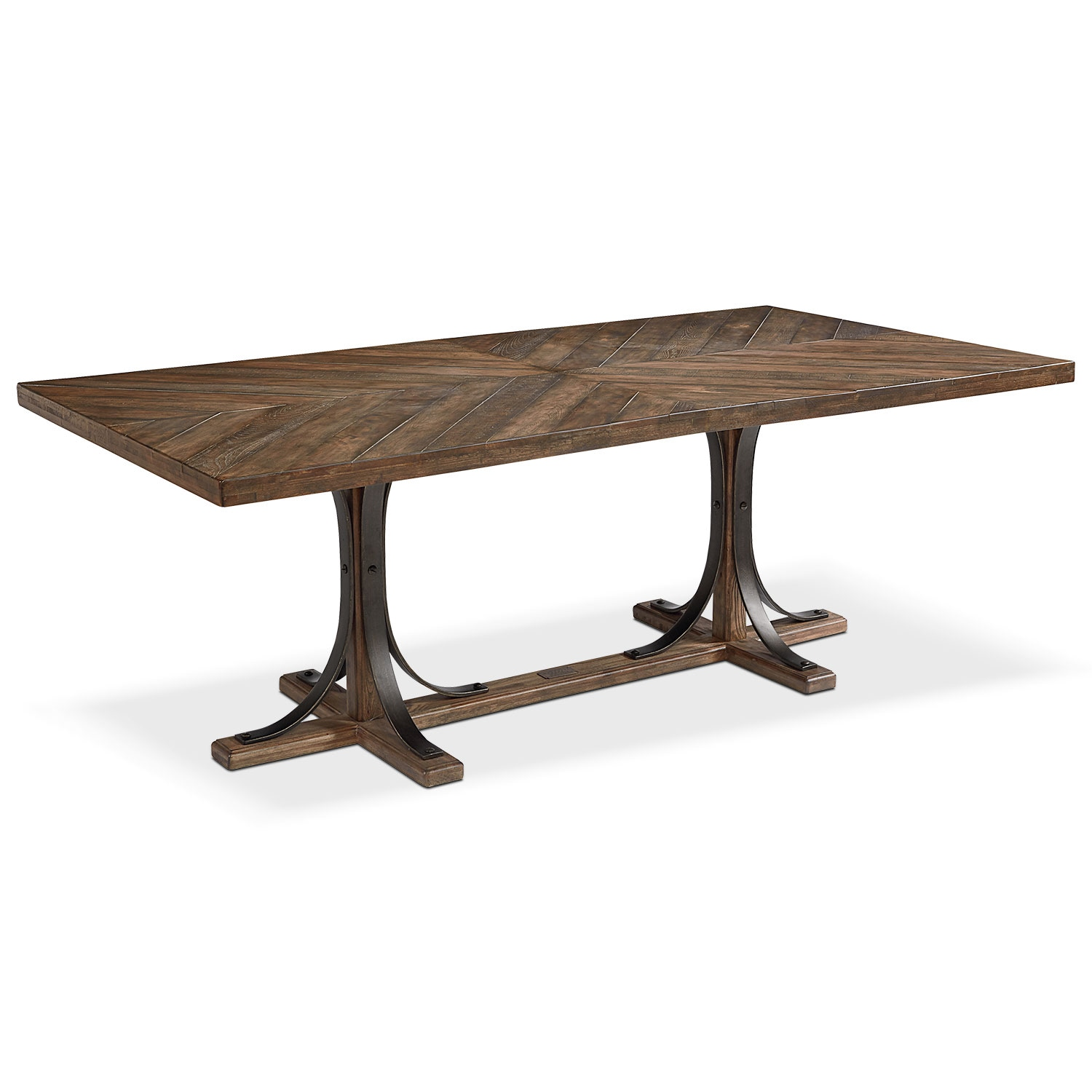Dining Room Furniture - Traditional Iron Trestle Table