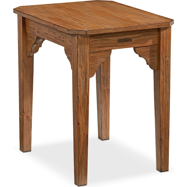 Accent and Occasional Furniture - Farmhouse Bracket End Table - Bench