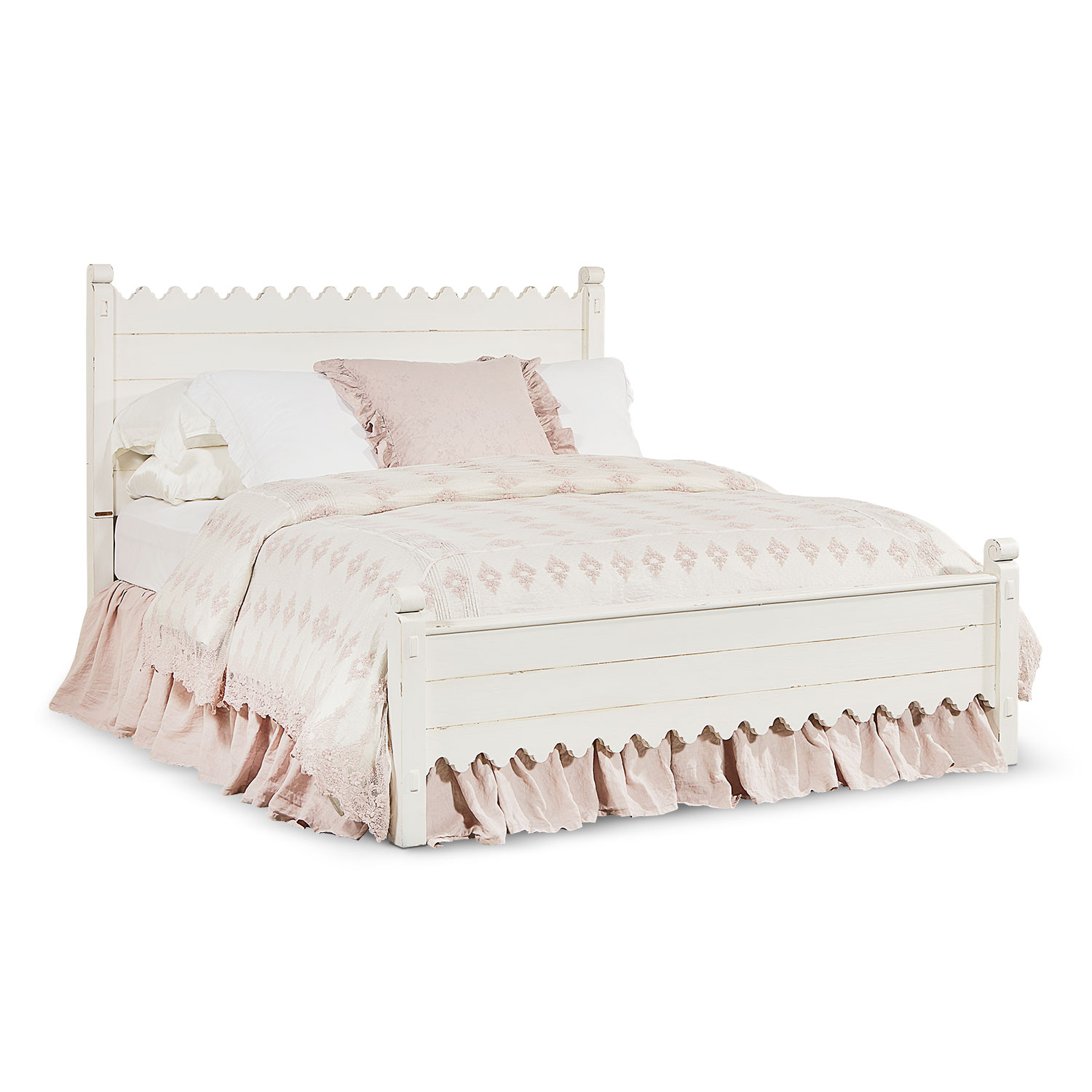 Bedroom Furniture - King Farmhouse Scallop Bed