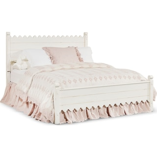 King Farmhouse Scallop Bed