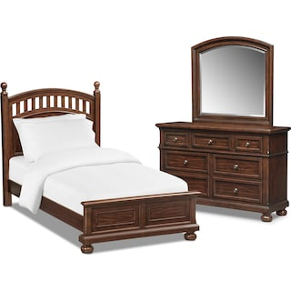 Hanover Youth 5-Piece Twin Poster Bedroom Set - Cherry