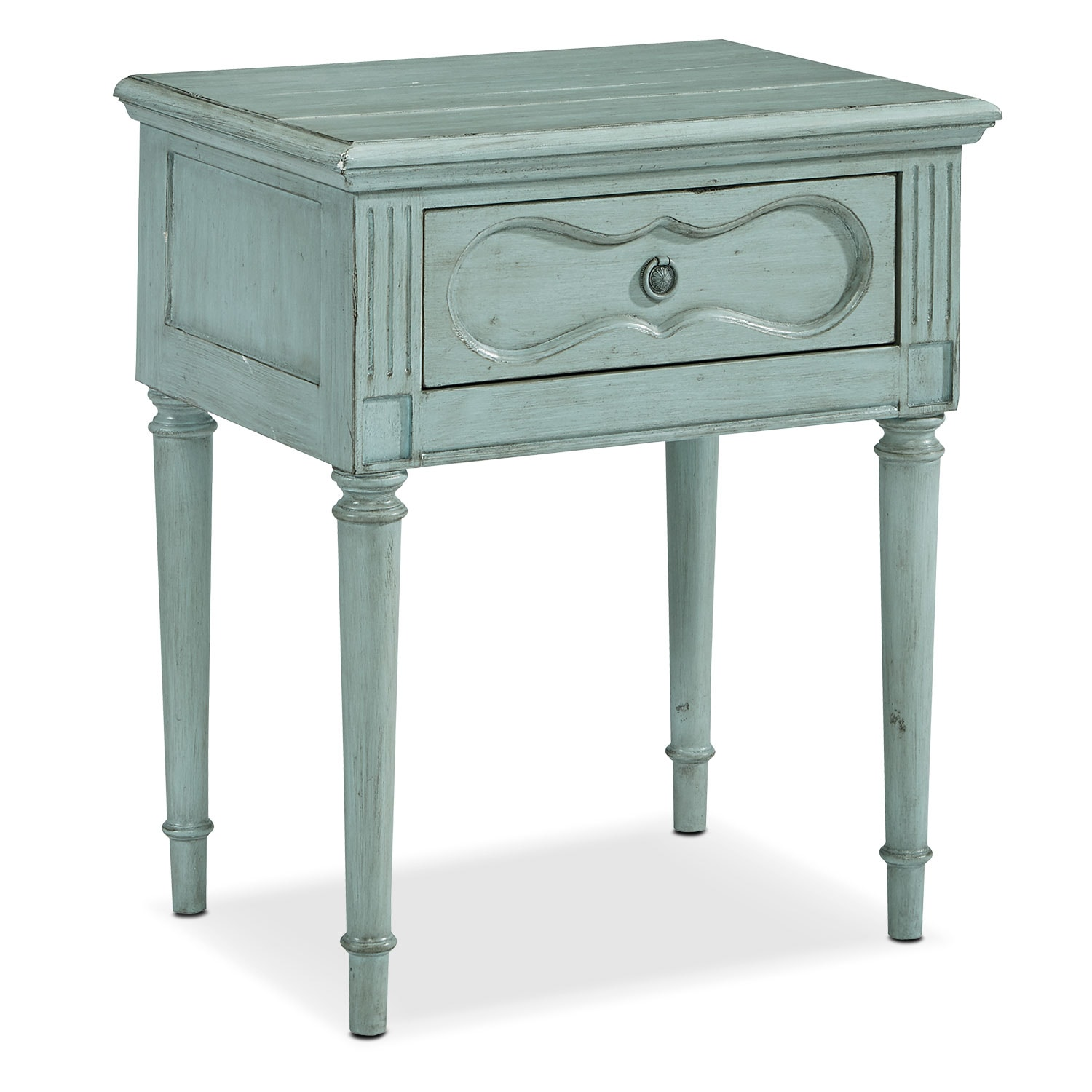 French furniture - Cameo Night Table French Blue