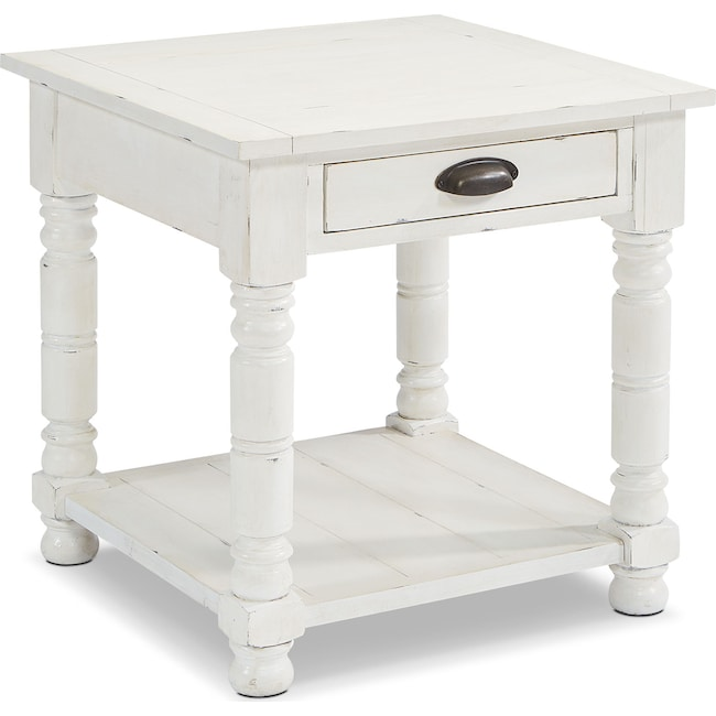 Accent and Occasional Furniture - Primitive Bobbin Side Table