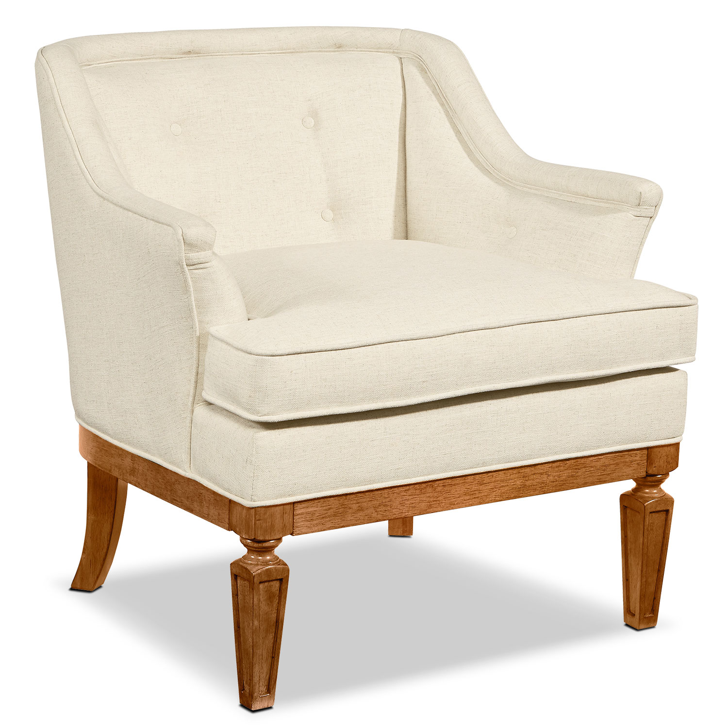 Living Room Furniture - Cotillion Accent Chair - Ivory
