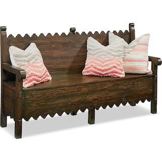 Farmhouse Scallop Bench with Storage - Barn Door