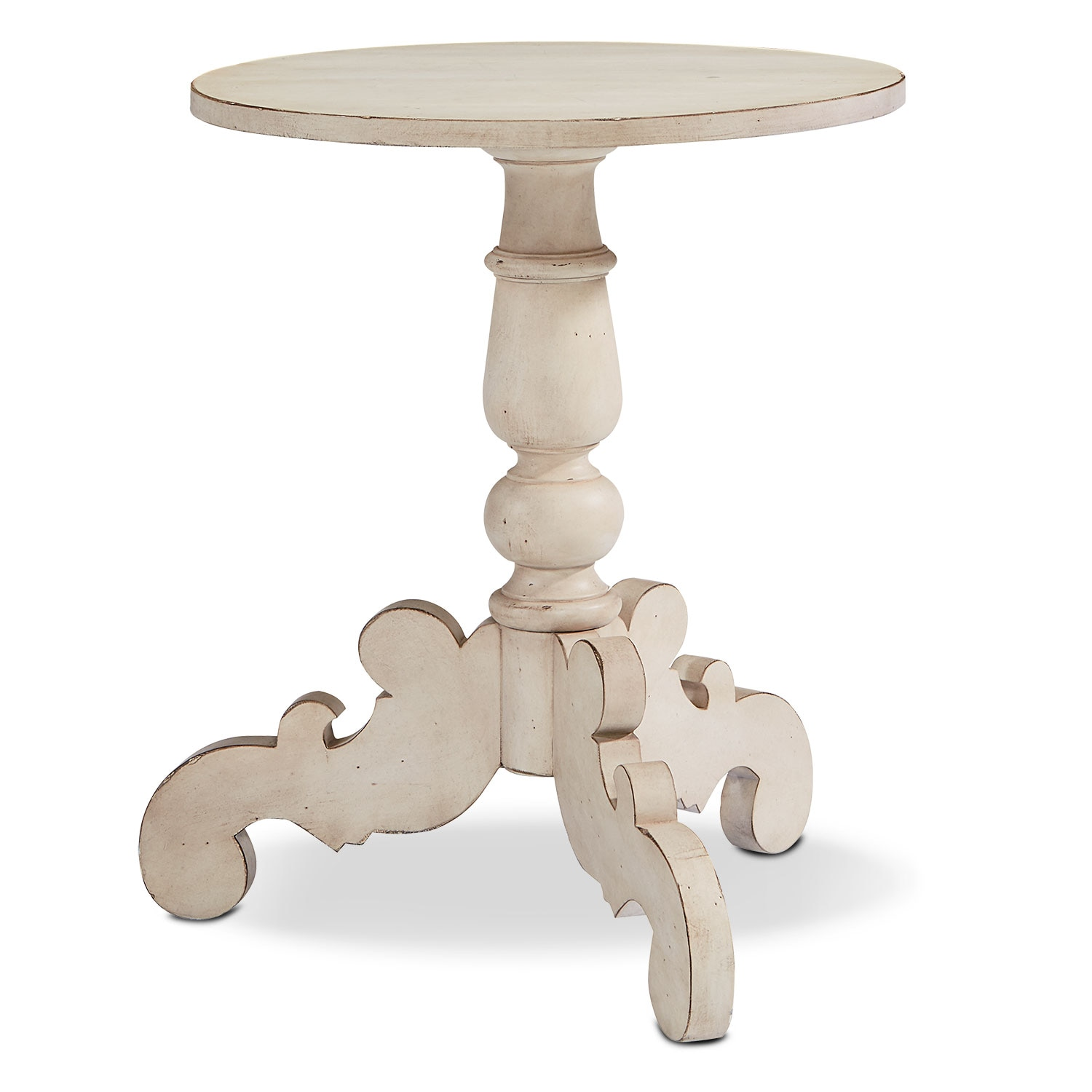 French Inspired Tripod Hall Table - Antique White