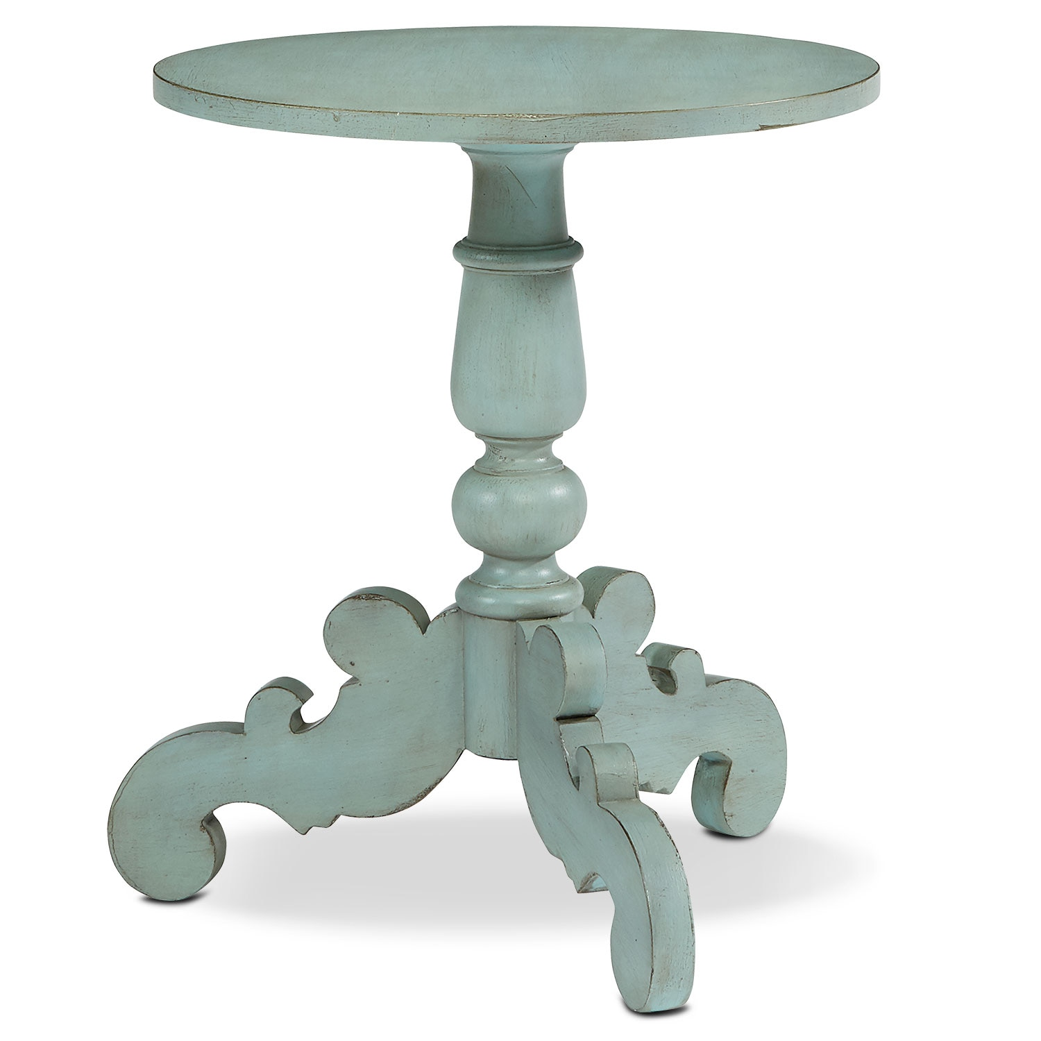 Accent and Occasional Furniture - French Inspired Tripod Hall Table - French Blue