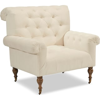 Carpe Diem Accent Chair - Alabaster