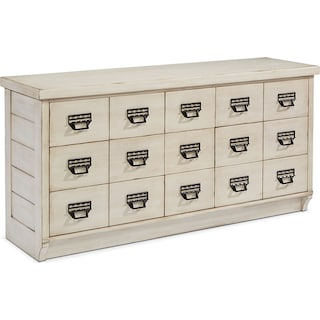 Farmhouse Archive Buffet - Antique White