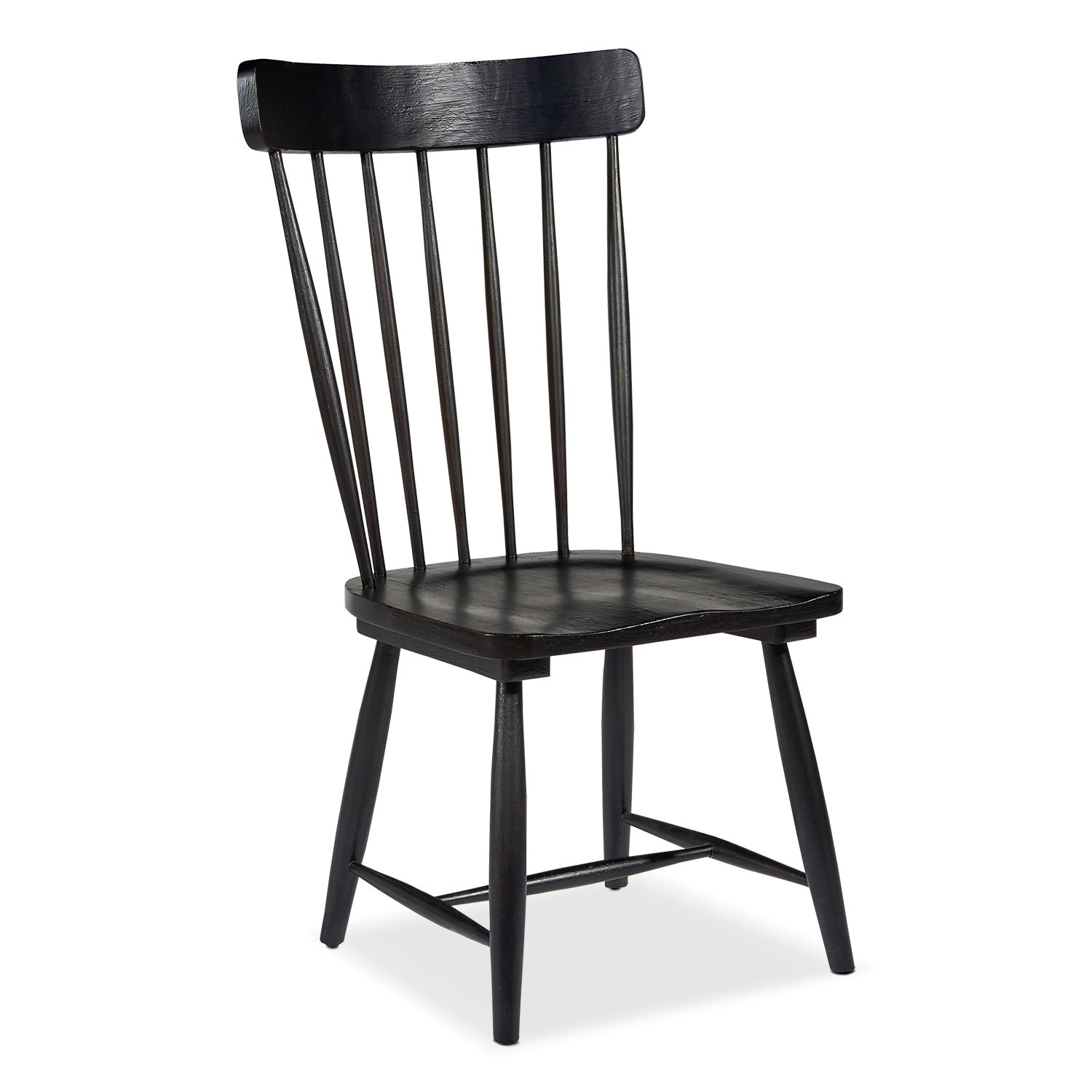 Dining Room Furniture - Farmhouse Spindle Back Side Chair - Black