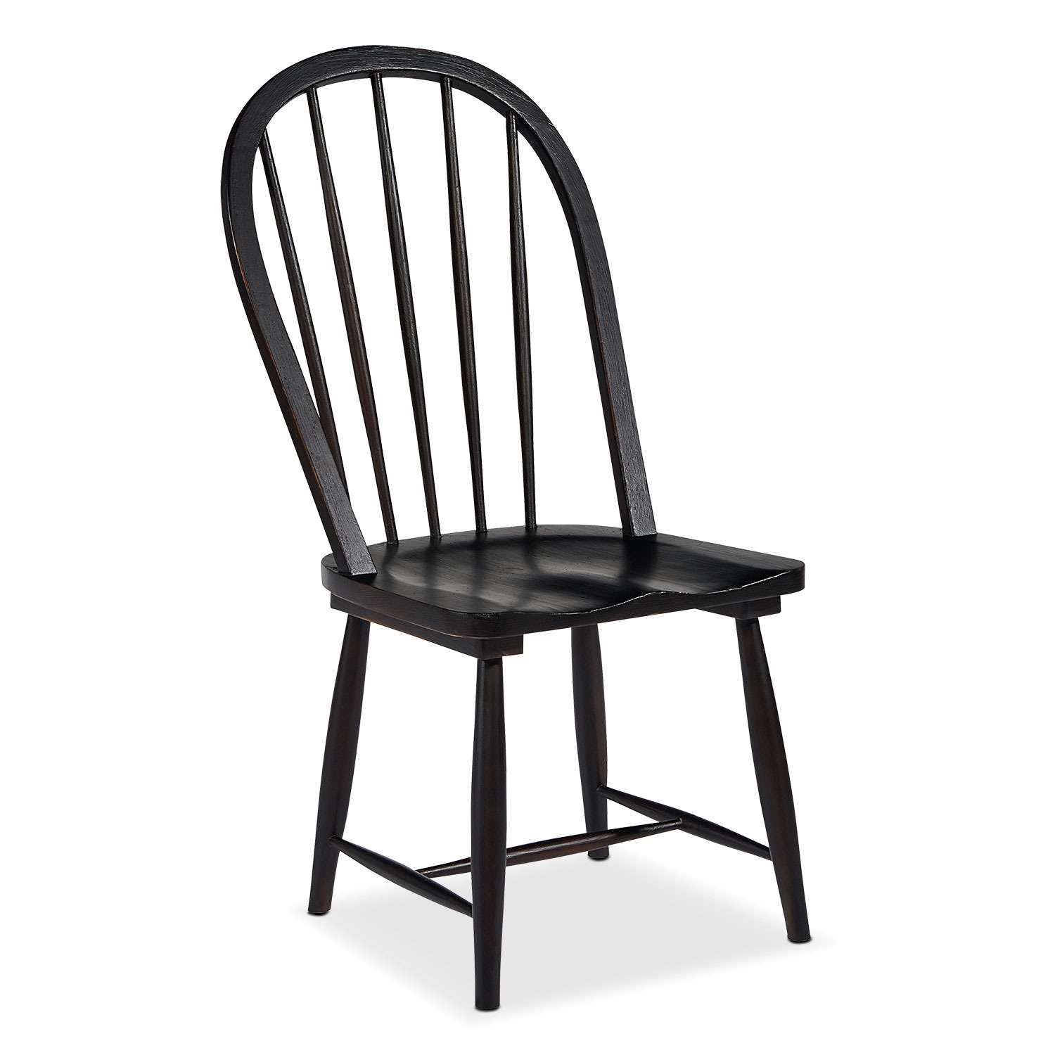 Primitive Windsor Hoop Side Chair - Black