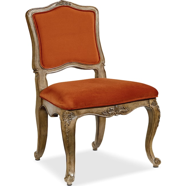 Accent and Occasional Furniture - Flora Accent Chair - Saffron