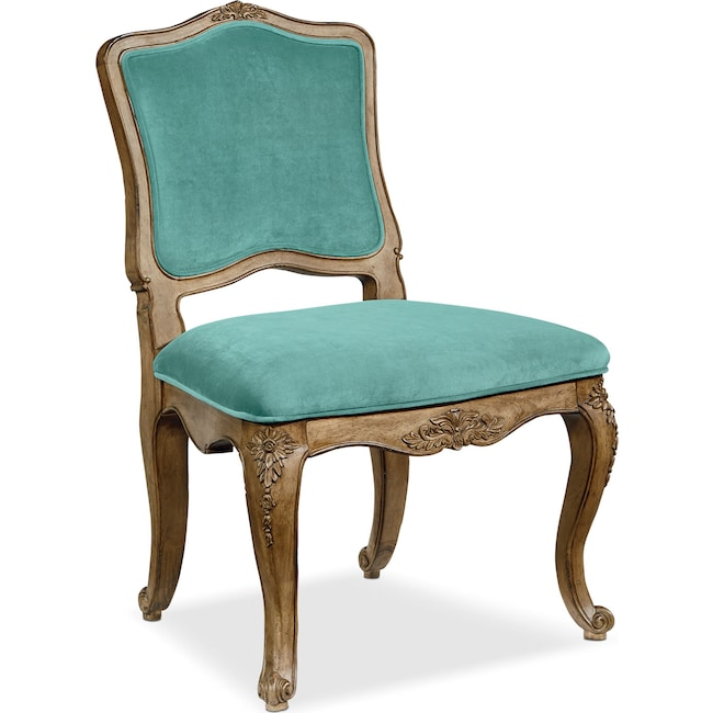 Accent and Occasional Furniture - Flora Accent Chair - Seaglass