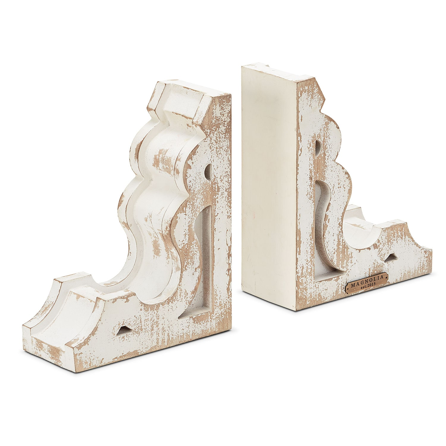 Wooden Book End Set