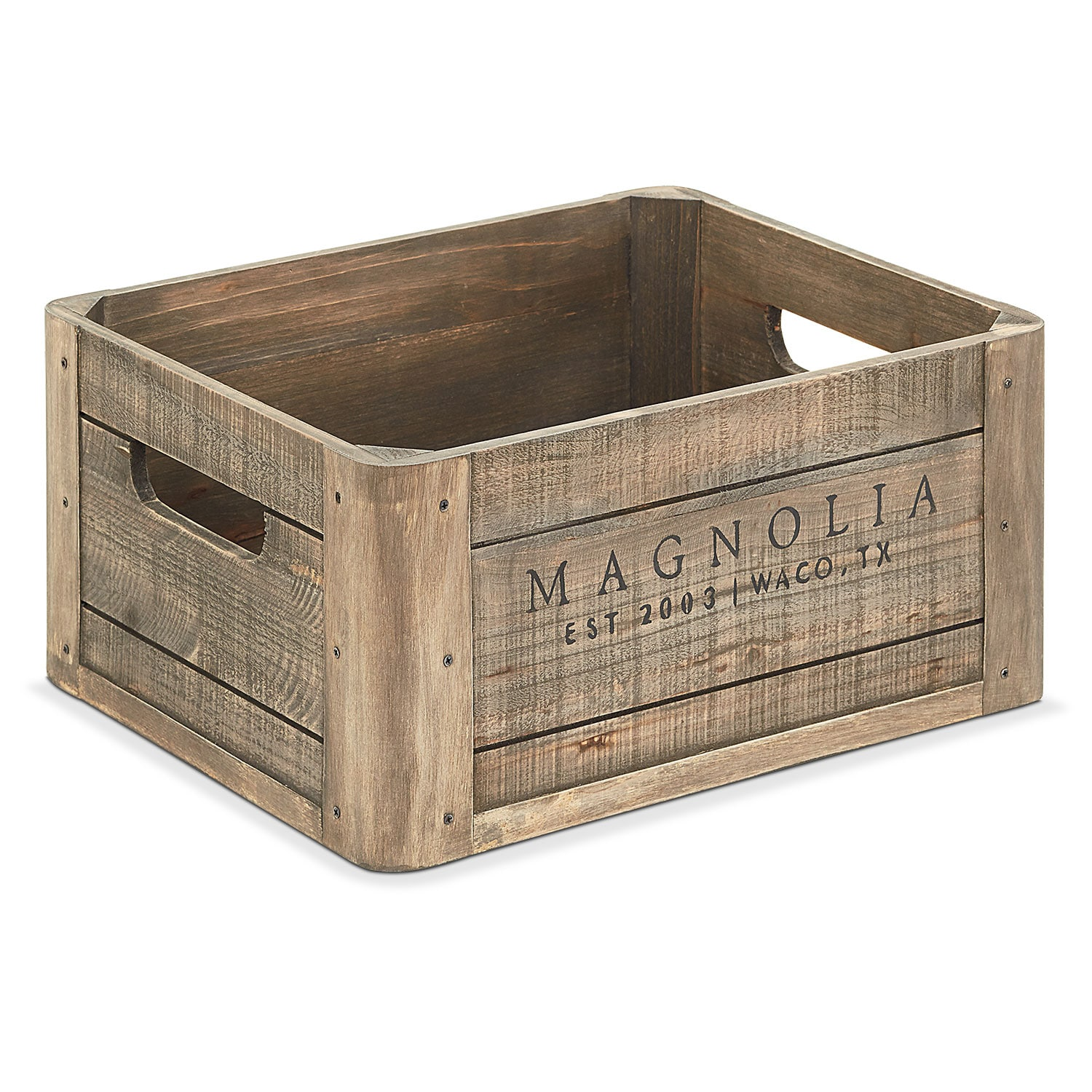 Home Accessories - Wood Crate with Magnolia Logo