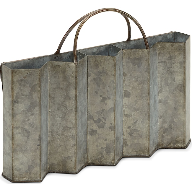 Home Accessories - Metal Corrugated Caddy