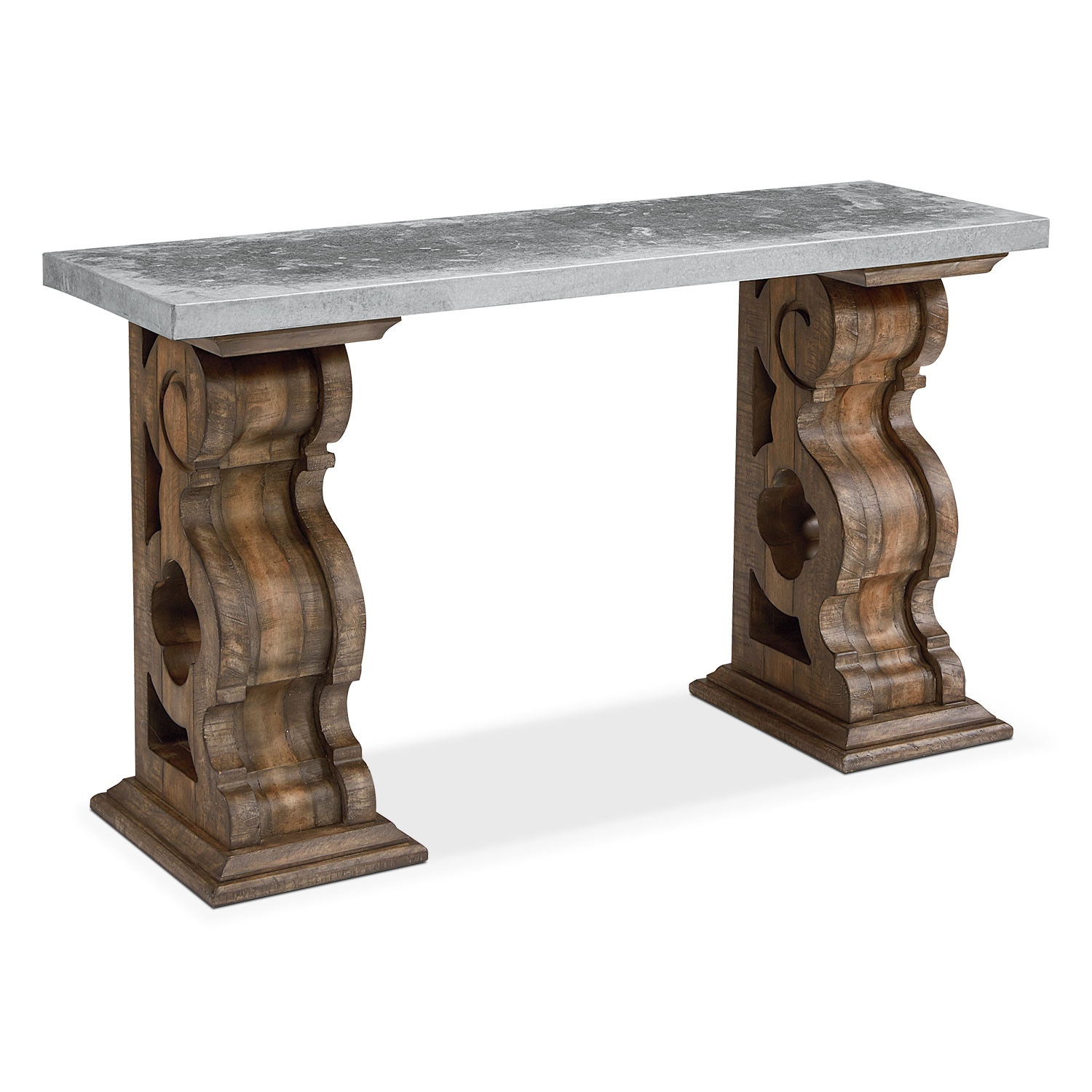 Home Accessories - Traditional Double Pedestal Hall Table