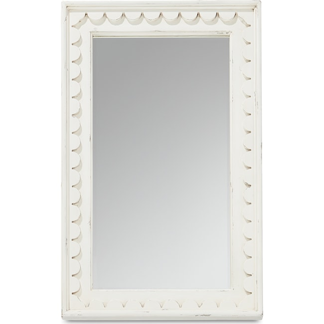 Accent and Occasional Furniture - Farmhouse Scalloped Floor Mirror