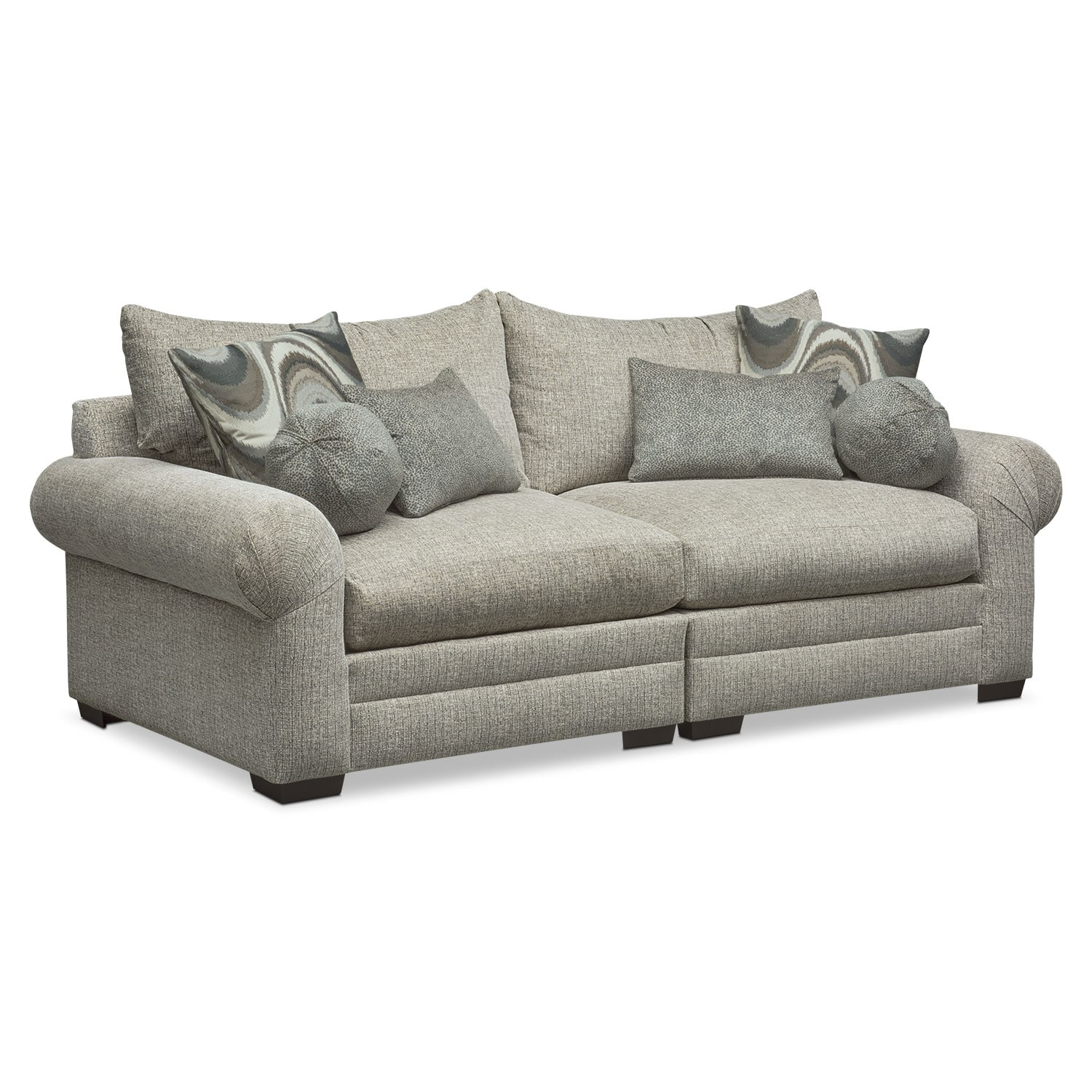 Living Room Furniture - Wilshire Sofa - Gray