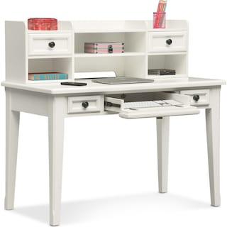 Hanover Youth Desk and Hutch - White