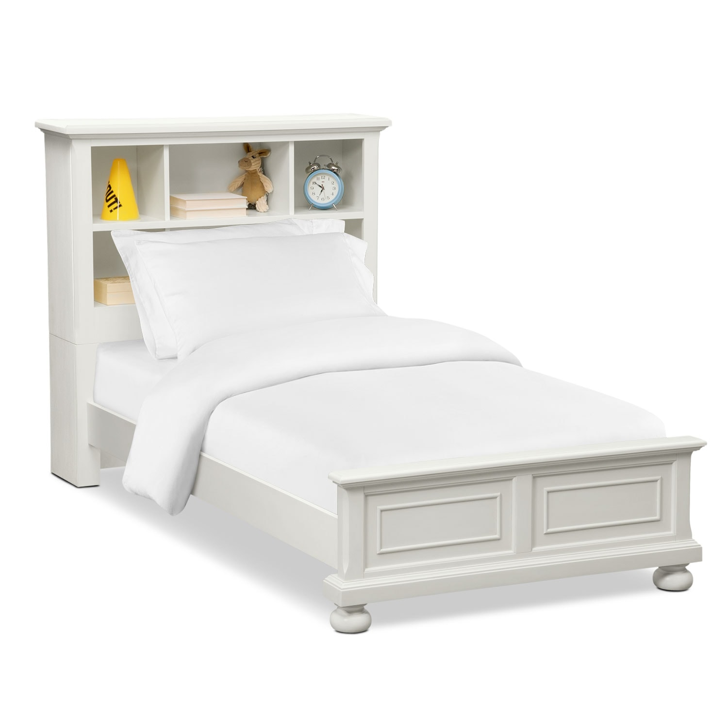 Hanover Youth Full Bookcase Bed - White | Value City Furniture and ...