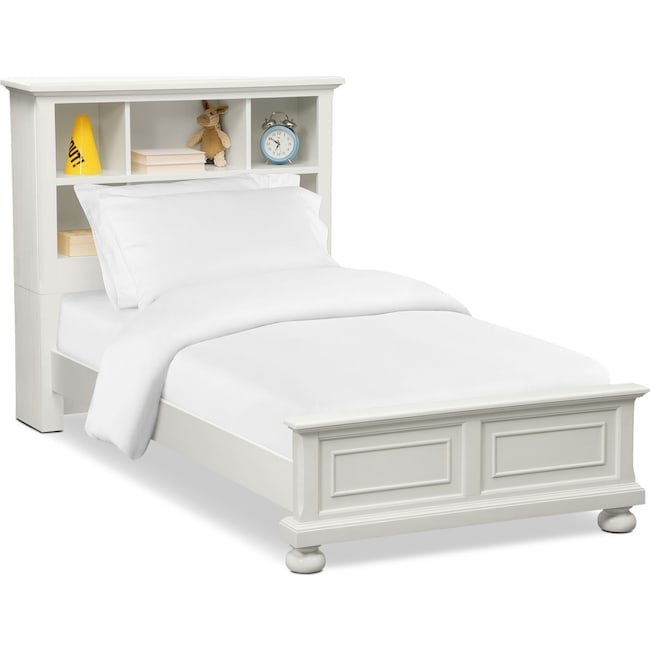 Kids Furniture - Hanover Youth Twin Bookcase Bed - White