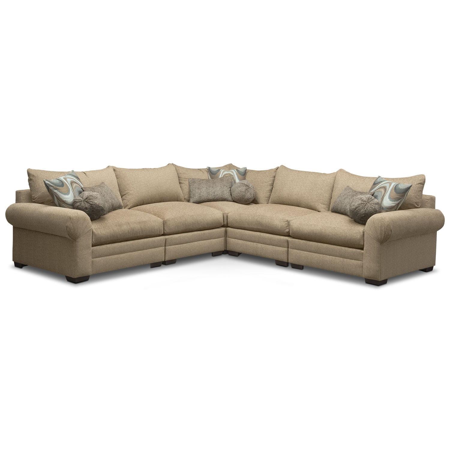 Wilshire 5-Piece Sectional - Taupe