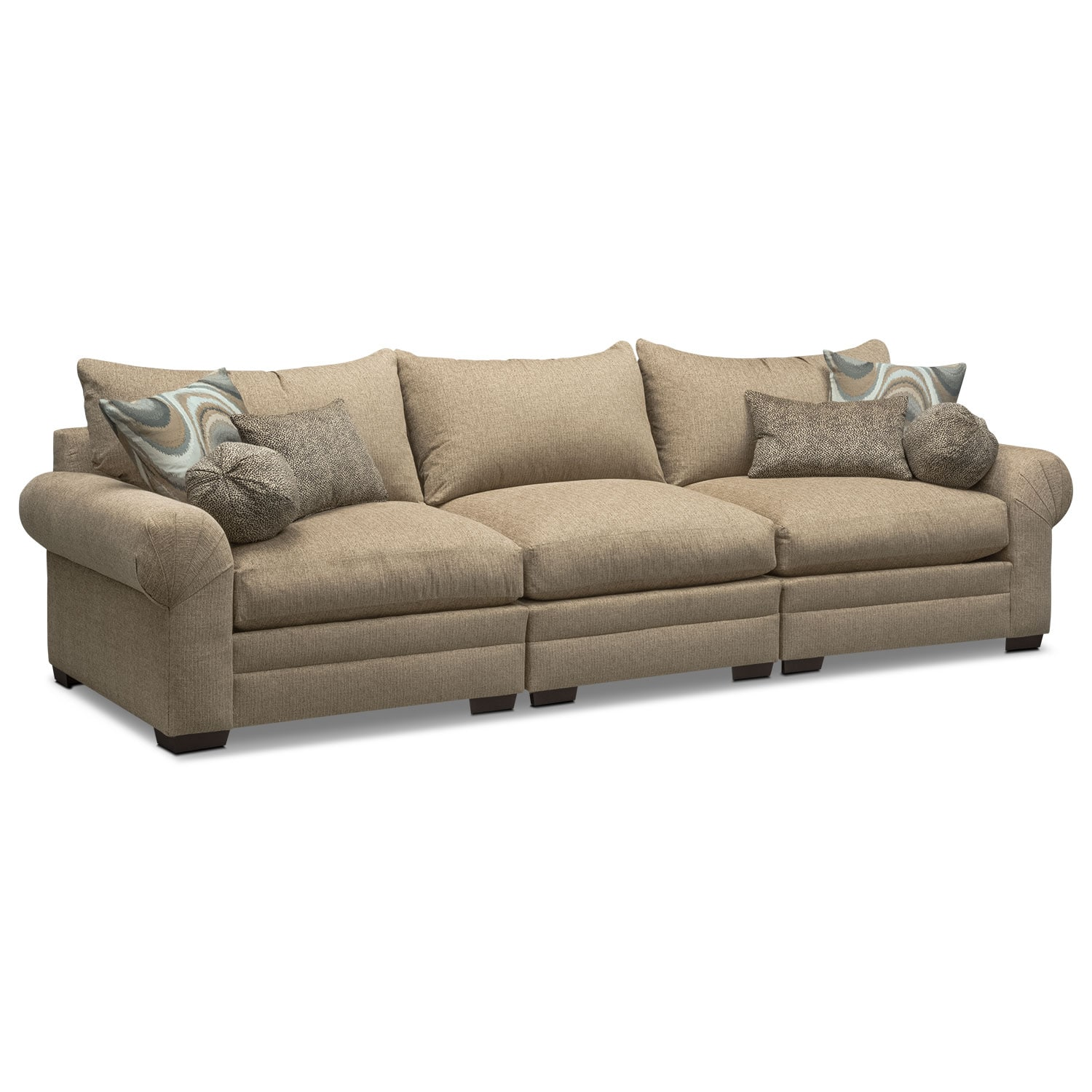 Wilshire 3-Piece Sectional - Taupe