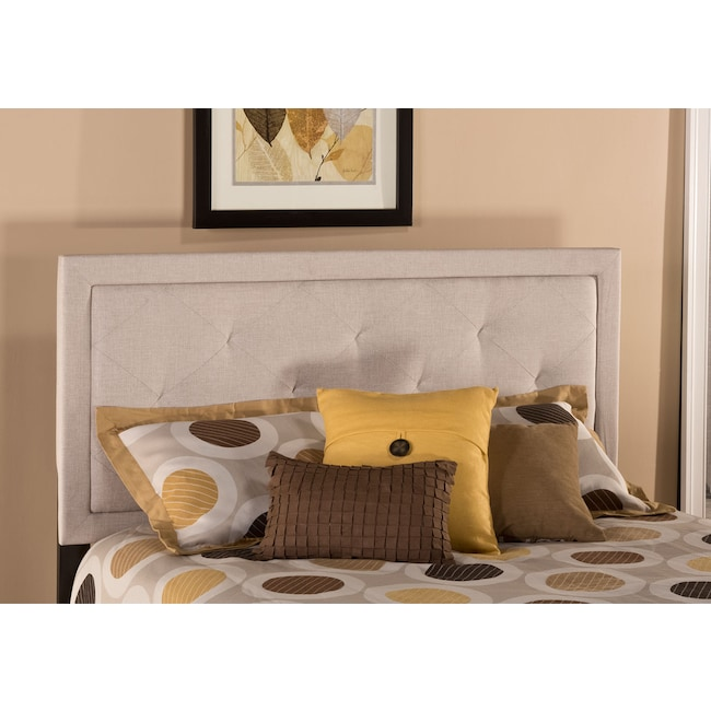 Bedroom Furniture - Becker King Headboard - Cream