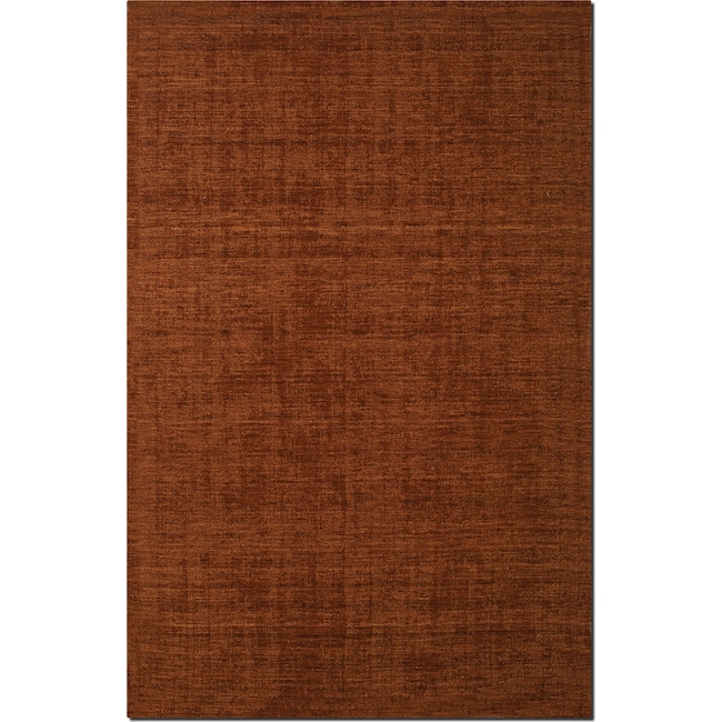 Rugs - Basics Area Rug - Orange