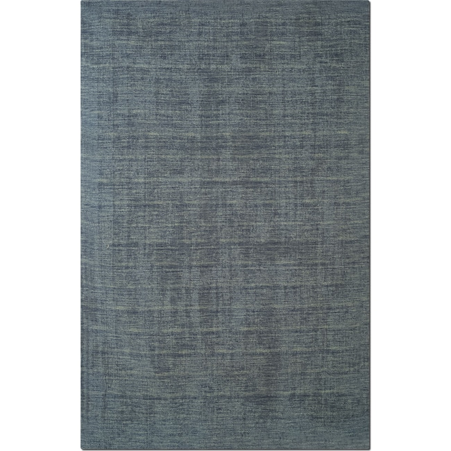 Rugs - Basics Area Rug - Gray and Blue