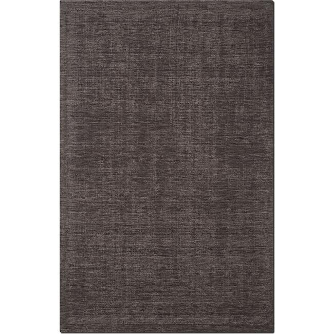 Basics 5 X 8 Area Rug Charcoal Value City Furniture And Mattresses