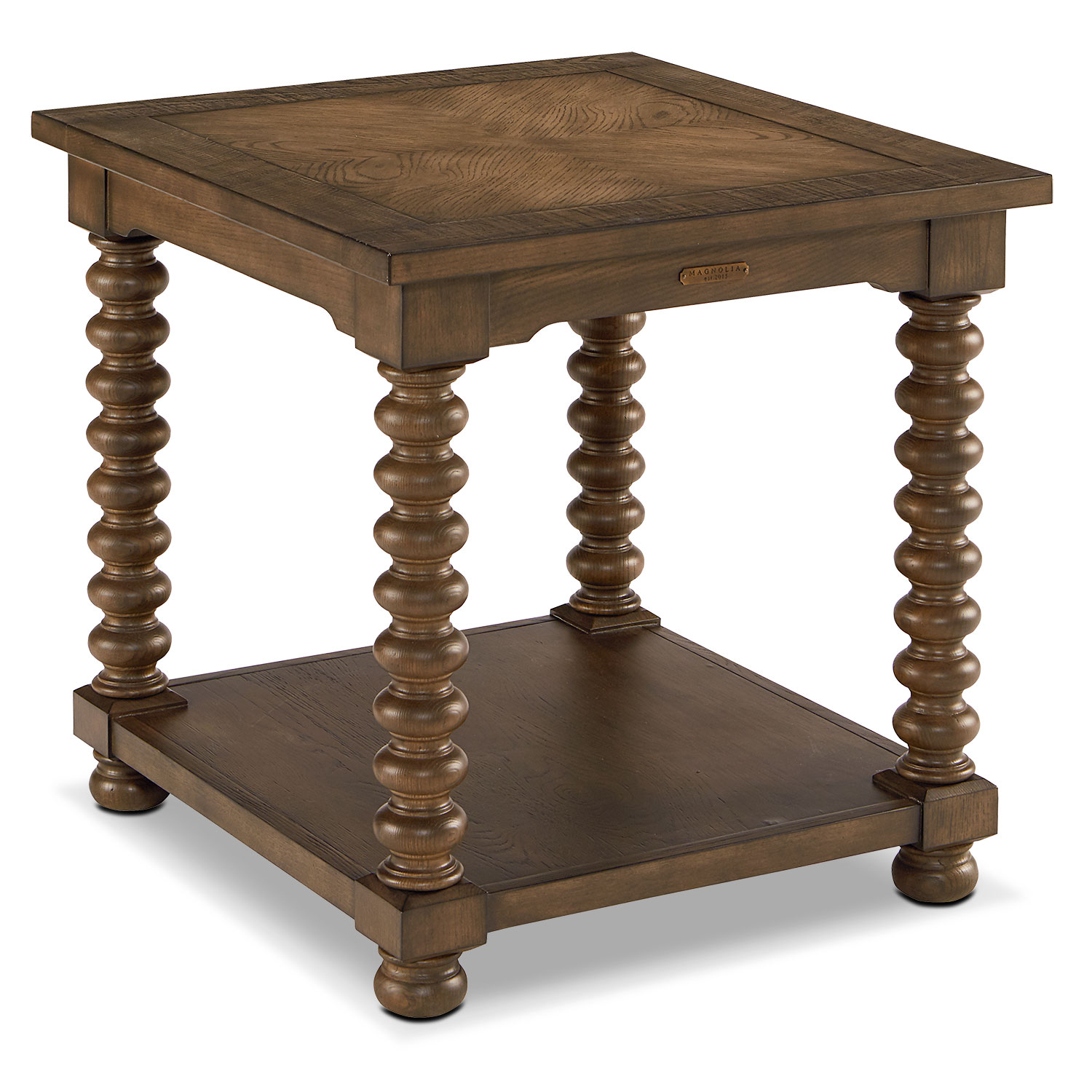 Traditional Spool Leg End Table